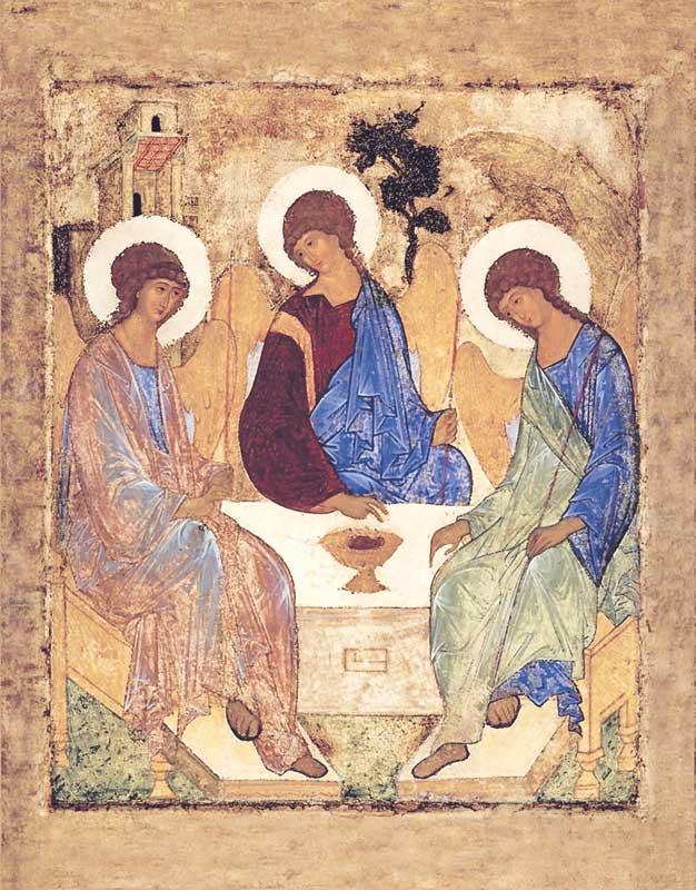 Картинки по запросу икона троица рублев
